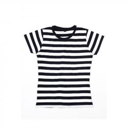 Women´s Stripy T  - Black / White
