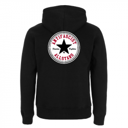 Antifascist Allstars - Black Star .  Kapuzenjacke N52Z