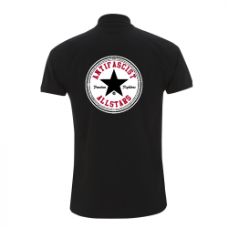 Antifascist Allstars - Star Black -  Polo-Shirt  N34