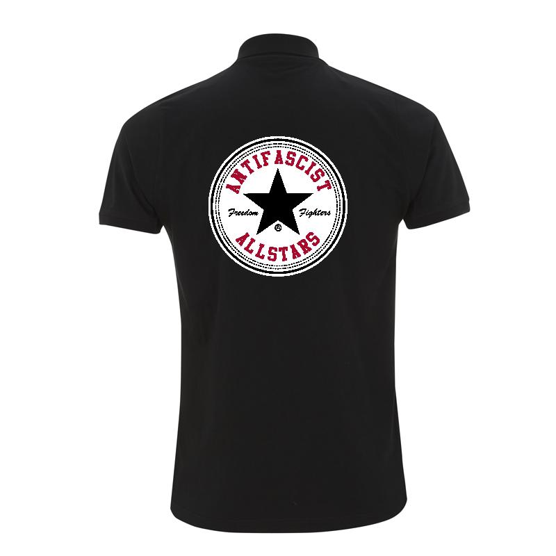 Antifascist Allstars - Star Black -  Polo-Shirt  N34