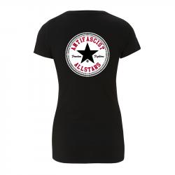 Antifascist Allstars - Black Star -  Women's  T-Shirt EP04