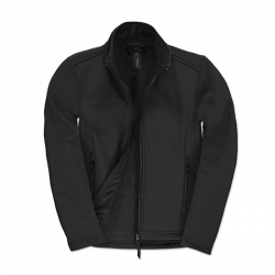 Softshell Jacke tailliert - schwarz