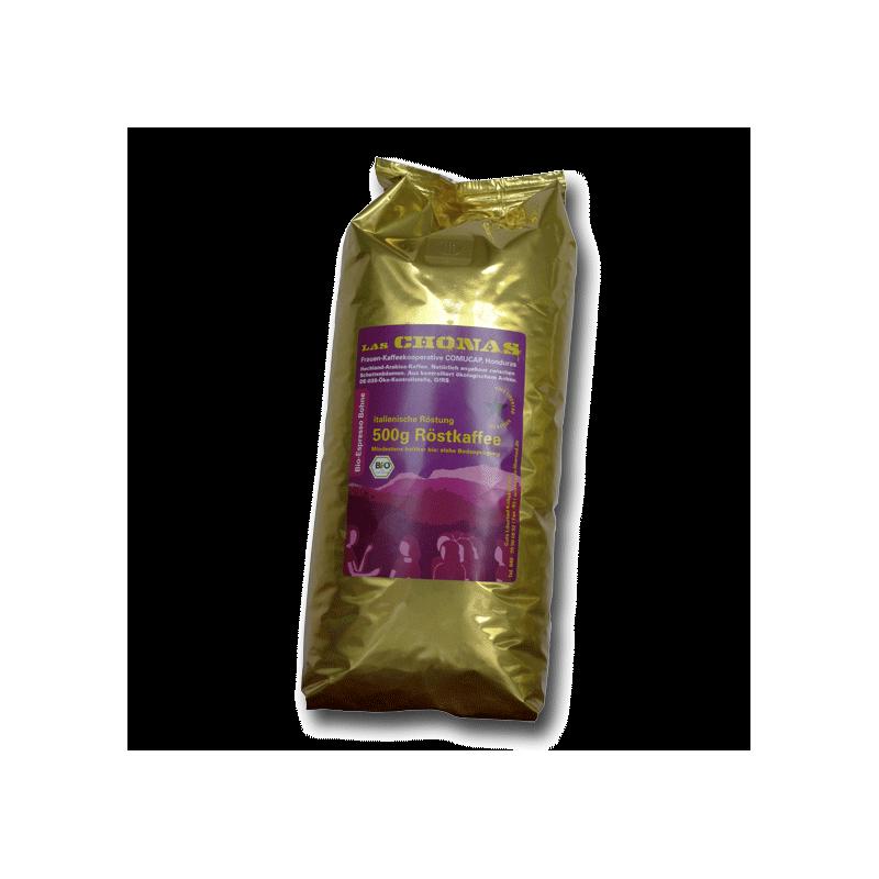 """Bio-Espresso """"Las Chonas"""" -  500g ganze Bohne"""