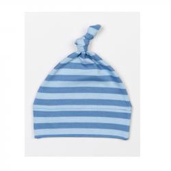 Babymütze geringelt mit Knoten - verschiedene Farben