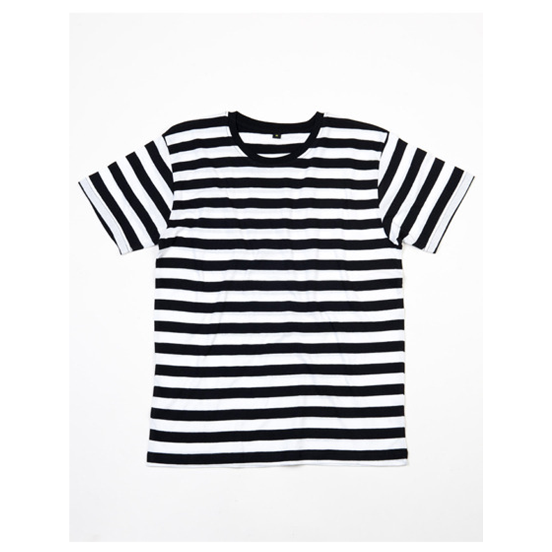Stripy T-Shirt   - Black / White