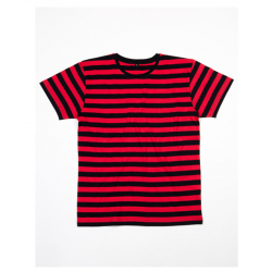 Stripy T-Shirt   - Black / Red
