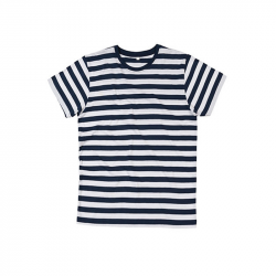 Stripy T-Shirt   - Navy / White