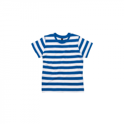 Kids Stripy T-Shirt - Classic Blue / White