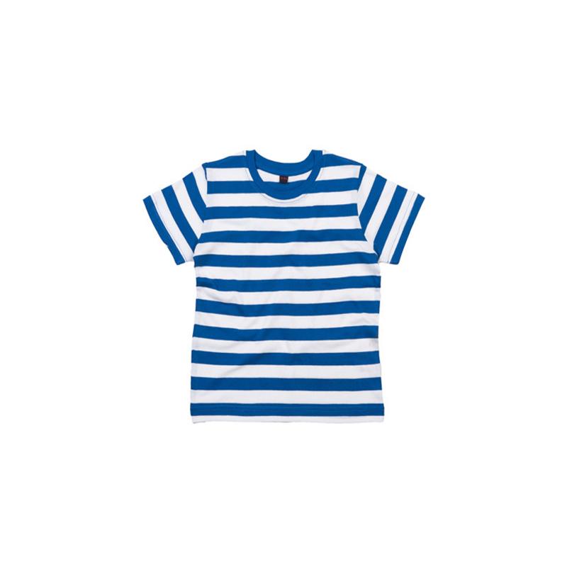 Kids Stripy T-Shirt - Classic Blue / White