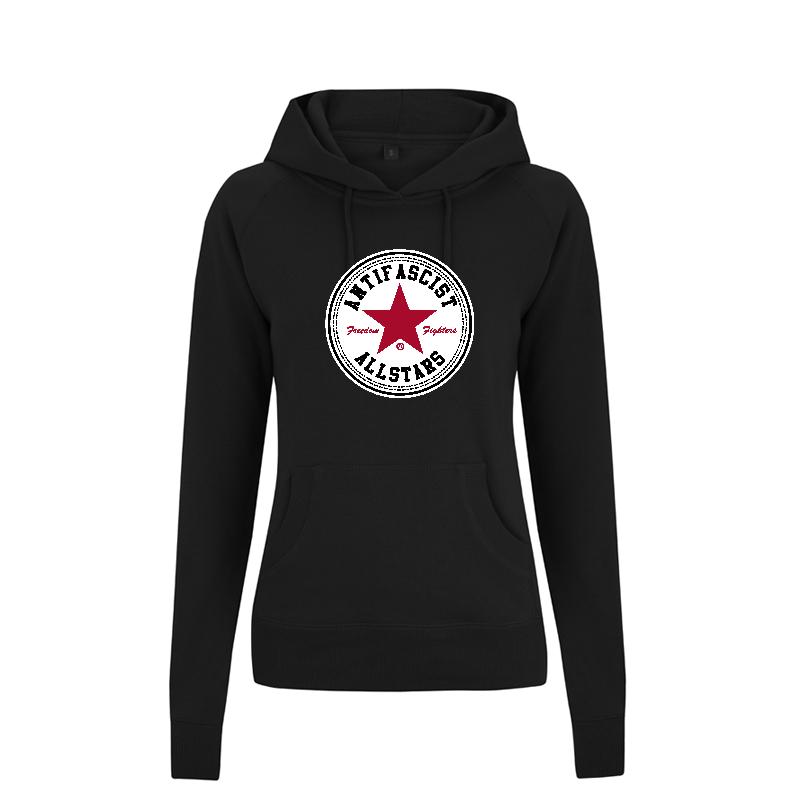 Antifascist Allstars - Red Star - taillierter Kapuzenpullover - ContinentalN53P