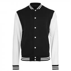 Sweat College Jacket - schwarz /weiß - Größe XL