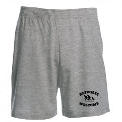 Refugees Welcome - grau -  Shorts