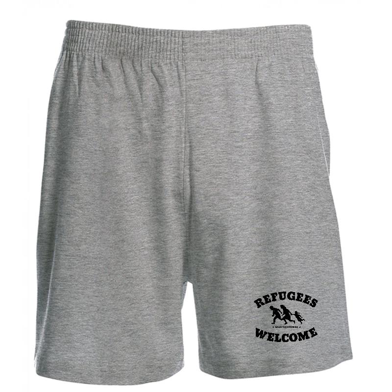 Refugees Welcome - grau - Shorts