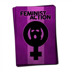 Feminist Action - Aufkleber - 30 Stück