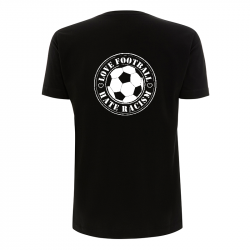 Love Football- Hate Racism - T-Shirt  - Continental N03