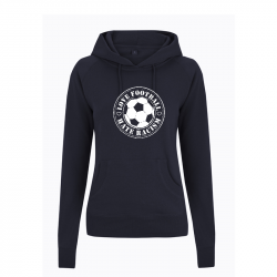 Love Football- Hate Racism - taillierter Kapuzenpullover - Continental N53P