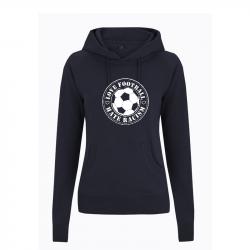Love Football- Hate Racism - taillierter Kapuzenpullover - Continental N53P
