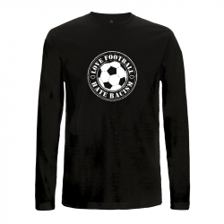 Love Football- Hate Racism-  Longsleeve  - Continental EP01L
