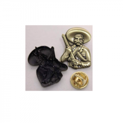 Emiliano Zapata  - Metal-Pin 3D