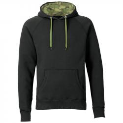 Kapuzenpullover REBEL unisex  - schwarz/wood camo - SONAR CLOTHING