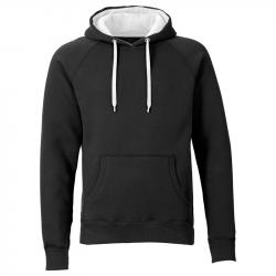 Kapuzenpullover REBEL unisex  - schwarz/weiß - SONAR CLOTHING