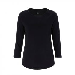 Women's 3/4 Sleeve – schwarz -  EarthPositive® EP47