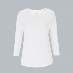 Women's 3/4 Sleeve – weiß -  EarthPositive® EP47