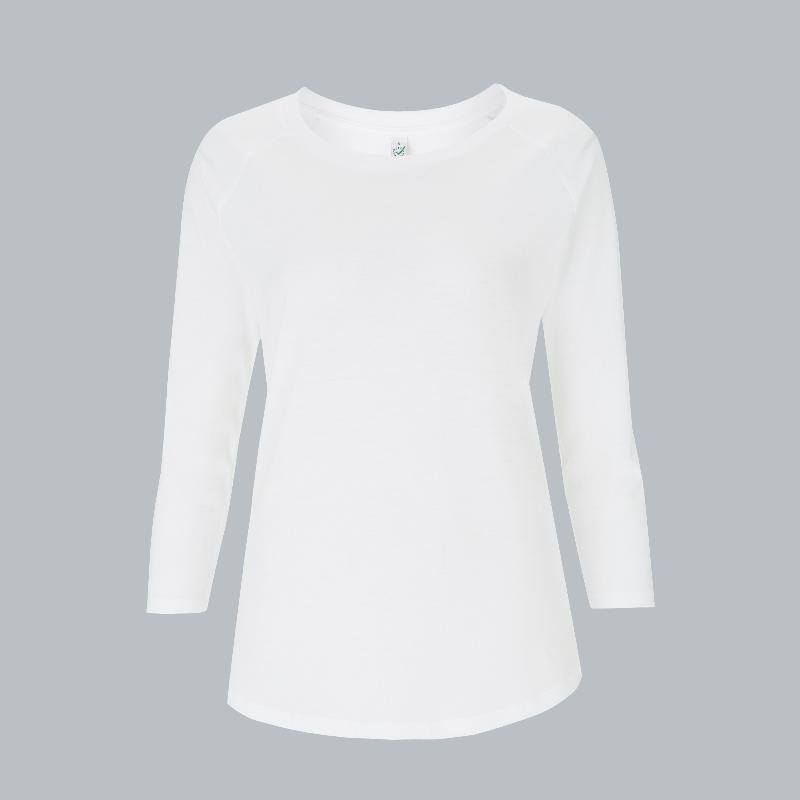 Women's 3/4 Sleeve – weiß -  EarthPositive® EP47