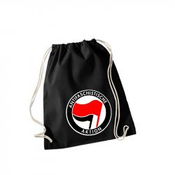 Antifaschistische Aktion rot/schwarz -  Sportbeutel