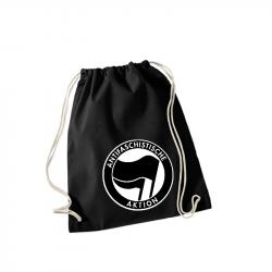 Antifaschistische Aktion schwarz/schwarz -  Sportbeutel