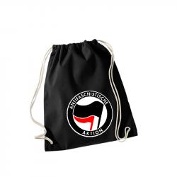 Antifaschistische Aktion schwarz/rot -  Sportbeutel