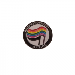 Antihomophobe Aktion - Metal-Pin