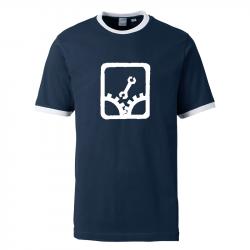 Sabotage - Contrast-Shirt navy/weiß