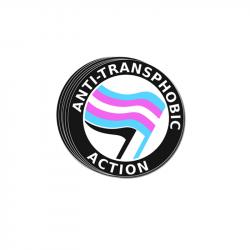 Anti-Transphobic Action - Aufkleber - 30 Stück