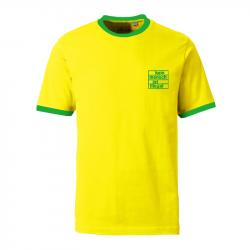 Kein Mensch ist illegal -  Contrast-Shirt gelb/grün
