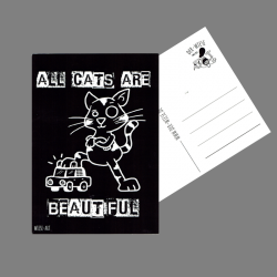All Cats Are Beautiful - Postkarte