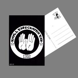 Bullenschubser- Postkarte