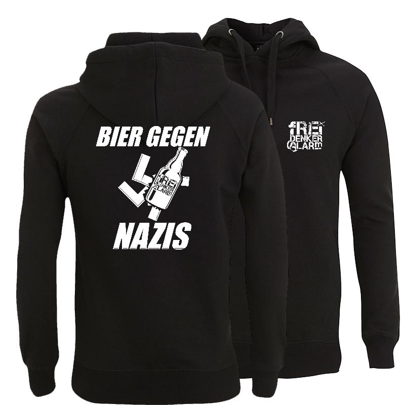 Freidenkeralarm - Bier gegen Nazis - Kapuzenpullover unisex