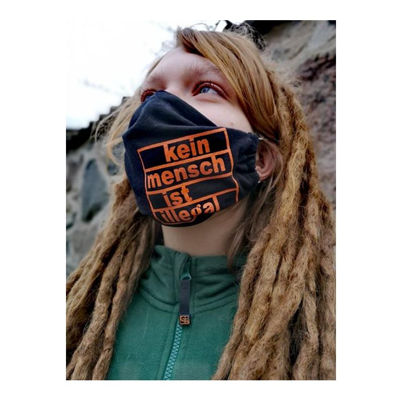Maske / Mundbedeckung - Kein Mensch ist illegal