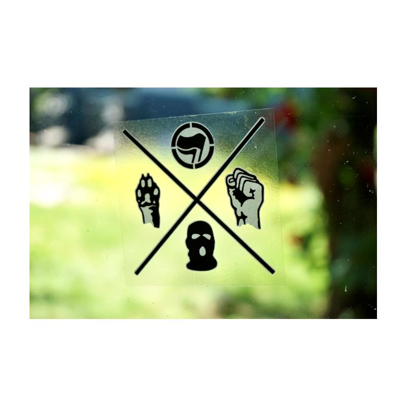 transparent Animal Liberation  - Aufkleber - 30 Stück