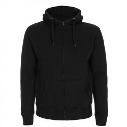 Kapuzenjacke N52Z – MENS HIGH NECK ZIP UP HOODY - schwarz -  Continental Clothing®