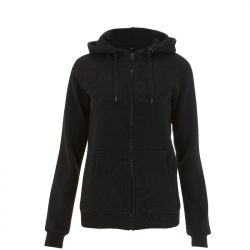 taillierte Kapuzenjacke N54Z - WOMENS HIGH NECK ZIP UP HOODY - schwarz - Continental Clothing®