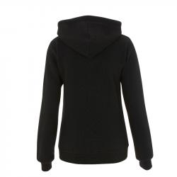taillierte Kapuzenjacke N54Z - WOMENS HIGH NECK ZIP UP HOODY - schwarz - Continental Clothing®