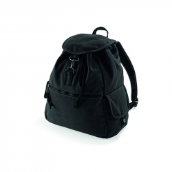 Vintage Canvas Backpack - vintage black, QD612