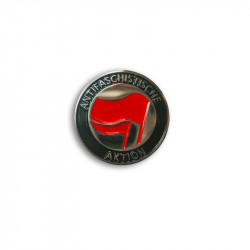 ANTIFASCHISTISCHE AKTION RED/RED, Metal-Pin