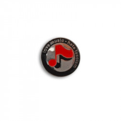 Love Music Hate Fascism - Noten, Metal-Pin