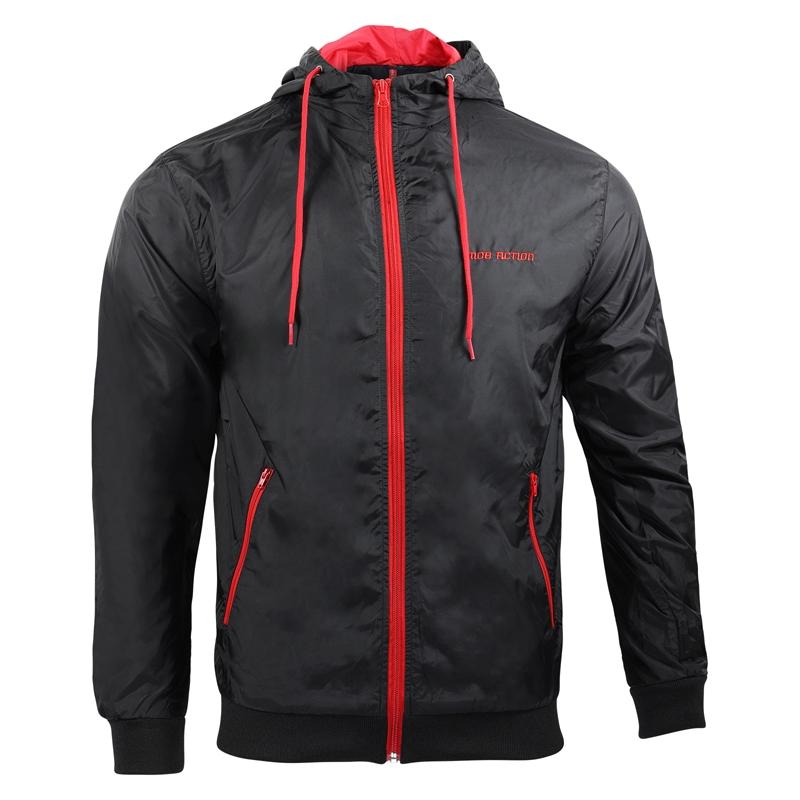 Jacket Contrast Men - black/red -  MOB ACTION