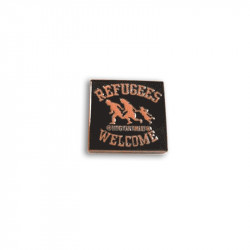 REFUGEES WELCOME ORANGE, Metal-Pin
