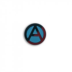 RED/BLACK ANARCHY, Metal-Pin