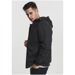 Hooded Cotton Zip Jacket - URBAN CLASSICS, TB1805